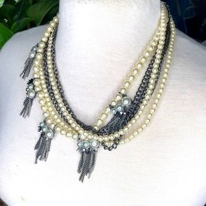 INC PEARL STATEMENT NECKLACE